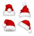 santa hat red velvet christmas santa traditional vector image