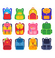 school backpack color schoolbags zipper and vector image