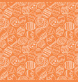 seamless simple pattern with ornamental vector image vector image