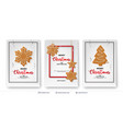 set of christmas and new year banner templates vector image