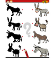 shadow game with donkey vector image vector image