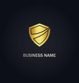 shield protect gold logo vector image
