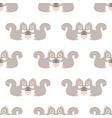 simple pattern with squirrels vector image vector image