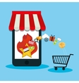 smartphone offers day shopping cart vector image
