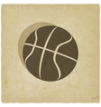 sport basketball logo old background vector image vector image