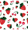 Strawberry background watercolor style vector image vector image