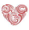 stylized heart for lovers day heart with patterns vector image vector image