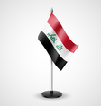 Table flag of Iraq vector image