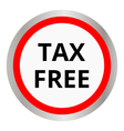 tax free icon vector image vector image