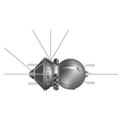 The first spaceship Vostok vector image vector image