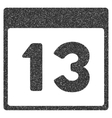 Thirteenth Calendar Page Grainy Texture Icon vector image vector image