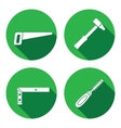 Tool icons set Saw hammer chisel angle Repair vector image vector image