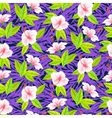 Tropical pattern with white hibiscus flowers vector image vector image