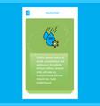 water control mobile vertical banner design design vector image