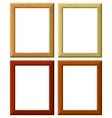 wooden frameworks vector image