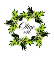 wreath of olive branches vector image vector image