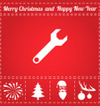 wrench screw icon vector image vector image