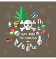 Flat Drugs Poster vector image