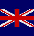 flag of united kingdom of great britain and vector image