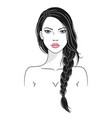 a beautiful young woman vector image vector image