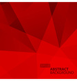 Abstract Geometric Red Background vector image vector image