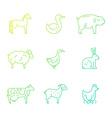 Animals on Farm vector image vector image