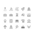 art museum line icons signs set outline vector image vector image
