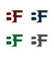 b f or f b letter logo template design eps 10 vector image