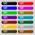 Barcode icon sign Set from fourteen multi-colored vector image