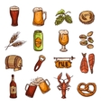 Beer Sketch Set vector image vector image