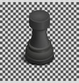black chess piece rook isometric vector image vector image