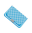 blue beautiful clutch vector image vector image