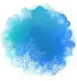Blue paint stain with snowflakes vector image