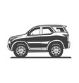 car silhoutte vector image vector image