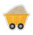 cart train mining full mineral cut line vector image vector image
