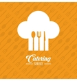 Catering service restaurant and menu design vector image