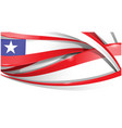 chile banner background flag vector image vector image