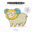 Chinese Zodiac Sign Sheep vector image vector image