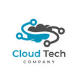 cloud tech logo design template vector image vector image