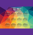 Colorful new year 2017 calendar