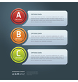 Colorful Options Banner template vector image