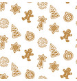 cute hand drawn seamless pattern with cookie vector image vector image