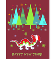 dragon new year vector image vector image