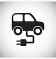 eco car icon on white background for graphic and vector image