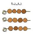 falafel on a skewer grill bbq falafel middle vector image