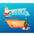 funny santa set christmas greeting card vector image vector image