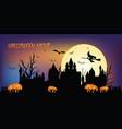 halloween night conceptsdark silhouette death vector image