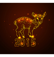 Hand drawn new year card with sheep vector image vector image