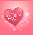 happy valentines day with couple heart balloon vector image vector image