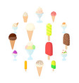 ice cream icons set cartoon style vector image vector image